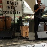 Jasmin Kathöfer für die LiteraListen beim KWS in Weidenau, Sommer 2014