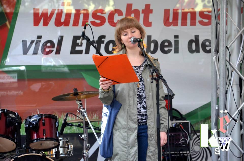 Susann Vogel beim KWS in Weidenau, Sommer 2014